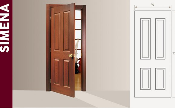 Wooden interior doors