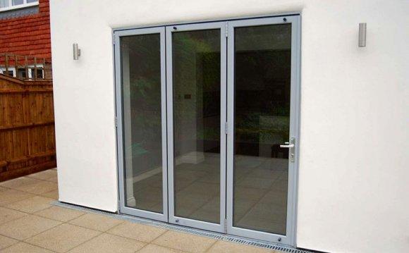 Folding exterior doors upvc