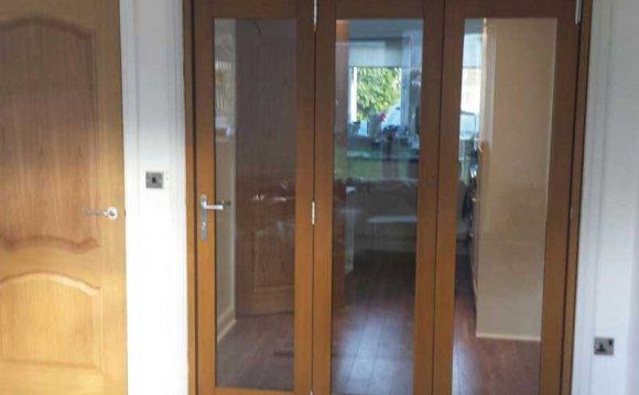 Oak coloured uPVC interior