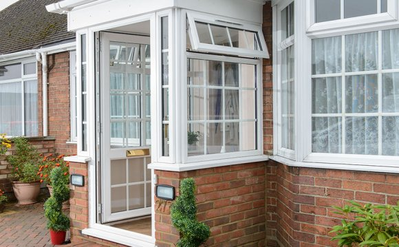 Porch with white uPVC windows
