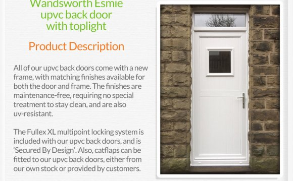 Upvc back doors fitted in