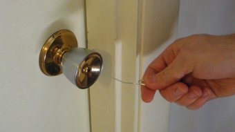 Open Easy Household Locks with a Paper Clip