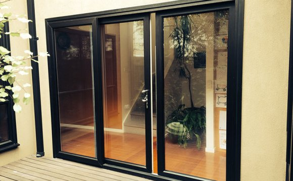 Black UPVC doors