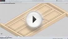 Animation of Door Panel with Hardware Fittings (SolidWorks)