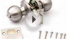 Brushed Stainless Steel Door Knob SET Handle Latch Lock