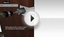 How to fit a Door Handle Privacy Lever Set