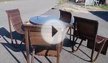 Lisbon Outdoor Dining Set - Wicker