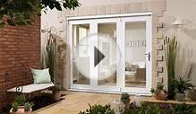 NUVU 2400mm (8ft) WHITE Folding Patio Door At Express