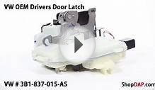 OEM VW Drivers (Left) Front Door Latch Assembly- 3B1837015AS