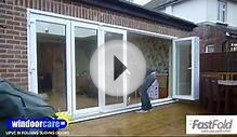 WINDOORCAREUK FASTFOLD 633 BI FOLDING DOOR SCHEME IN WHITE
